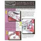Experts-Choice No.121 Decal Paper, Clear Inkjet, 8 1/2 x 11