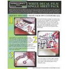 Experts-Choice No.126 Decal Paper, White Laser, 8 1/2 x 11