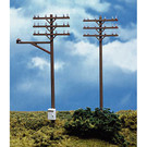 Atlas HO #775 Telephone Poles, 12Pc., HO