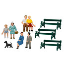 Lionel 1957200 Sitting Figures & Benches, HO Scale