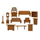 Lionel 1957250 Furniture Set, HO Scale