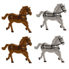 Lionel 1930280 Horses 4-Pk, O Scale