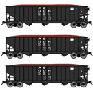 Bluford Shops 14473 Penn Central 14 Panel Hopper 3-Pack, N Scale