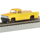 Bachmann 46201 MOW Pickup Truck w/Highrailers, HO Scale