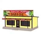 MTH 30-90539 Jurassic Pork Bar-B-Que Road Side Stand, O Scale