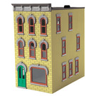 MTH 30-90543 3-Story Town Home Yellow w/ Gray Trim, O Scale