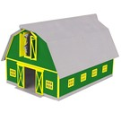 MTH 30-90406 Green with Gray Roof Barn, O Scale