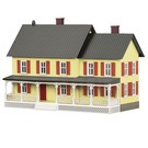 MTH 30-90186 Country House Yellow w/ Red Shutters, O Scale