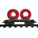Lionel 7-11486 PRR Flatcar w/Reels, Ready-To_play