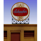Miller Engineering 44-1302 Schaefer Beer Animated Neon Sign, Small