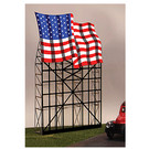 Miller Engineering 4072 Waving American Flag Animated Neon Billboard, Small