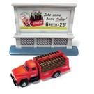 Classic Metal Works 40004 1954 Ford Bottle Truck /w Billboard, Coca-Cola, HO Scale