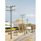 Walthers 3101 Electric Utility Pole Set, HO Scale