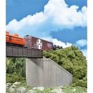 Walthers 933-4551 Railroad Bridge Concrete Abutments 2/pk, HO Scale