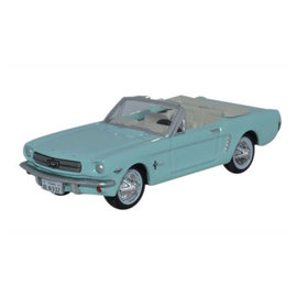 87MU65002 1965 Ford Mustang Turquise, HO Scale