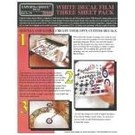 Experts-Choice No.120 Decal Paper, White Inkjet, 8 1/2 x 11, 3/pk