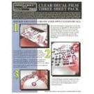 Experts-Choice No.122 Decal Paper, Clear Inkjet, 8 1/2 x 11, 3/pk