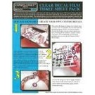 Experts-Choice No.123 Decal Paper, Clear Laser, 8 1/2 x 11, 3/pk