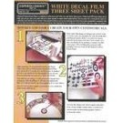 Experts-Choice No.125 Decal Paper, White Laser, 8 1/2 x 11, 3/pk