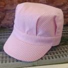 Engineer Hat Pink Stripe, Adult
