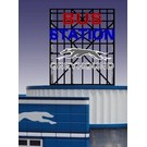 Miller Engineering 5681 Greyhound Animated Roof Top Bus Station sign