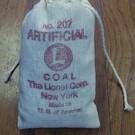 Henning's Trains No. 207 Artificial Lionel Bag of Coal