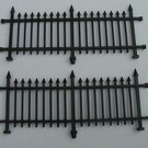Henning's Parts 156-5  2 Section Black Fence, 2 pieces