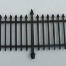 Henning's Parts 156-5, 12Pcs. 2 Section Black Fence