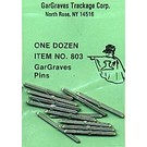 Gargraves 803 Gargraves Track Pins, 12Pcs.