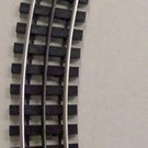 """Gargraves WT-54-101 54"""" Curved Track Section w/Wood Ties"""