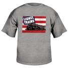 Lionel 9-00236 Med Adult Gray T-Shirt w/1942 Flag
