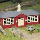 Bachmann 45611 Schoolhouse with Playground Equipment, Bachmann Plasticville