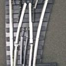 Gargraves 113 RH O-42 Manual Switch - Phantom w/Tinplate Outside Rails, GarGraves