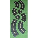 """Leisuretime Products 403 """"O"""" Mini Highways Assorted Curves, Yellow, 6'"""