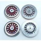 Model Engineering Works BAL-4R Steam Wheel Set, 384/390, 4:36, Red Spoke