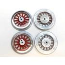 Model Engineering Works BAL-8R Steam Wheel Set for 385/392/400/1835, 8:32, Red Spoke