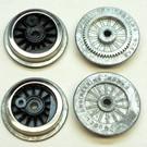 Model Engineering Works AO-1001 Steam Wheel Set, Spoked, Nickel Rim