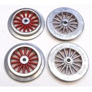 Model Engineering Works AW1000 AF Wide Gauge Electric Loco Wheel Set, Red