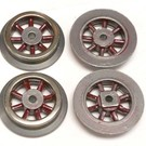 Henning's Trains SL-95 Electric Red Spoked Wheels, Set of 4  #150-250 Series