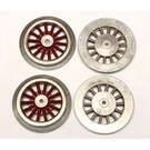 Model Engineering Works SMWS, Standard Gauge Electric Loco Red Wheel Set, 4Pcs.