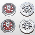 Model Engineering Works 255WS-R-3, Wheel Set for 250, 260 & 263 Loco, Red Spoke, 3 Sets