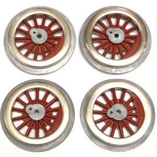 Model Engineering Works BAL-8R Steam Wheel Set, 8:32, Red Spoke, 3 sets