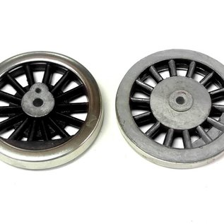 Model Engineering Works BAL-6B Steam Wheel Set w/o Flange, Black Spoke