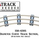 "USA Track LLC 150-4205 42"" Diameter Curve Track, 5-ties, USA"