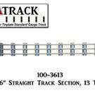 """USA Track LLC 100-3613 36"""" Straight Track Section, 13-ties, USA"""
