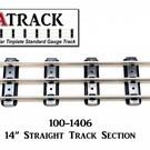"""USA Track LLC 100-1406 14"""" Straight Track Section, 6-ties, USA"""