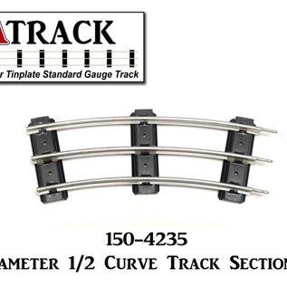 "USA Track LLC 150-4235 42"" Diameter 1/2 Curve Track Section, 3 Tie"
