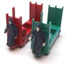 Poward Plastics 356-35L Baggage Cart Set, Red & Green, Repro
