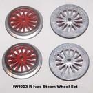 Model Engineering Works IW1003-R Ives Steam Std Gauge Red Wheel Set, 4Pcs