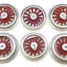 Model Engineering Works MS1001 McCoy Std Gauge Red Spoke Wheel Set, 6Pc
